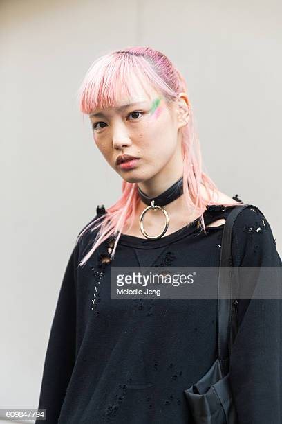Model Fernanda Ly after the Max Mara show during Milan Fashion Week Spring/Summer 2017 on September 22 2016 in Milan Italy