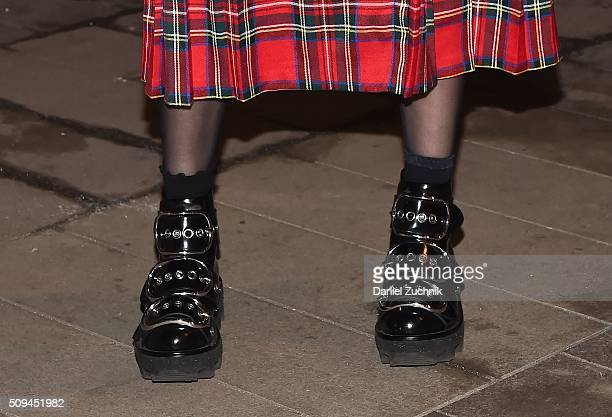 Model Fernanda Ly is seen on the streets of New York City wearing Alexander Wang boots during New York Fashion Week Women's Fall/Winter 2016 on...