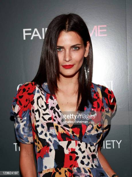 Model Fernanda Motta attends Giorgio Armani The Cinema Society's screening of 'Fair Game' at The Museum of Modern Art on October 6 2010 in New York...