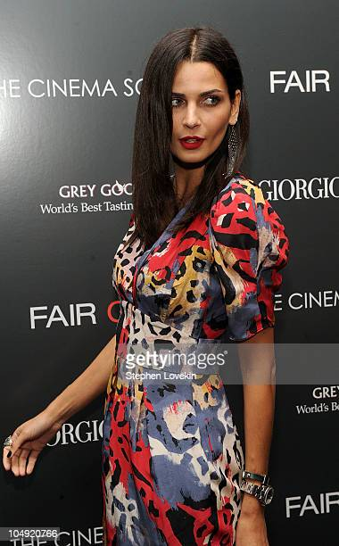 Model Fernanda Motta attends the screening of 'Fair Game' hosted by Giorgio Armani The Cinema Society at The Museum of Modern Art on October 6 2010...