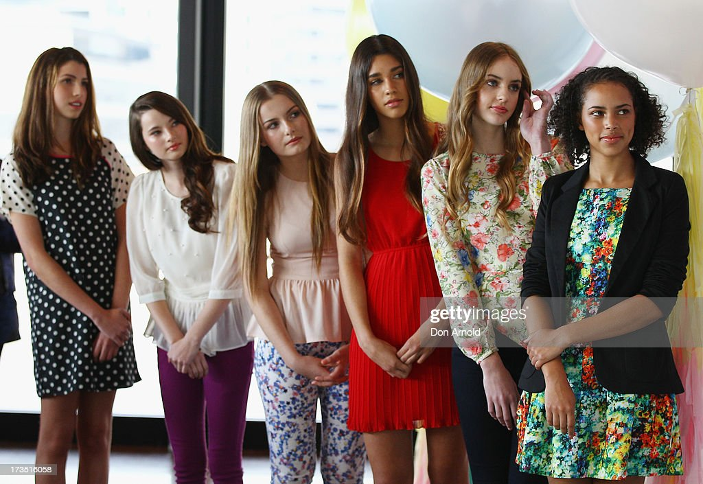 Model finalists look on at the 2013 Dolly Model Search event at the Museum of Contemporary Art on July 16, 2013 in Sydney, Australia.