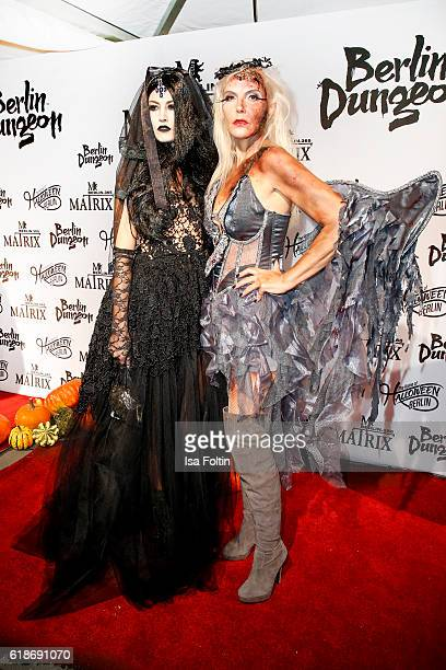 Model Fiona Erdmann and Natascha Ochsenknecht attend the Halloween party by Natascha Ochsenknecht at Berlin Dungeon on October 27 2016 in Berlin...