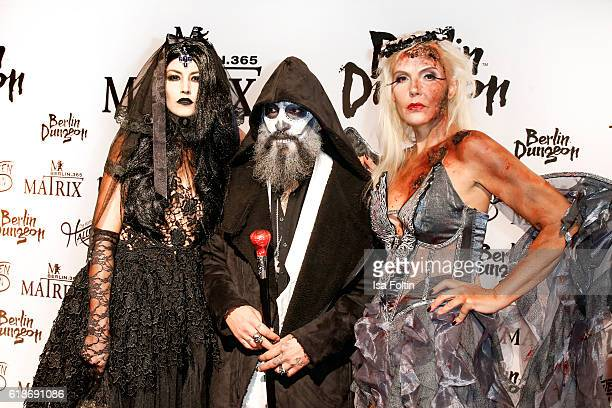 Model Fiona Erdmann DJ Senay Gueler and Natascha Ochsenknecht attend the Halloween party by Natascha Ochsenknecht at Berlin Dungeon on October 27...