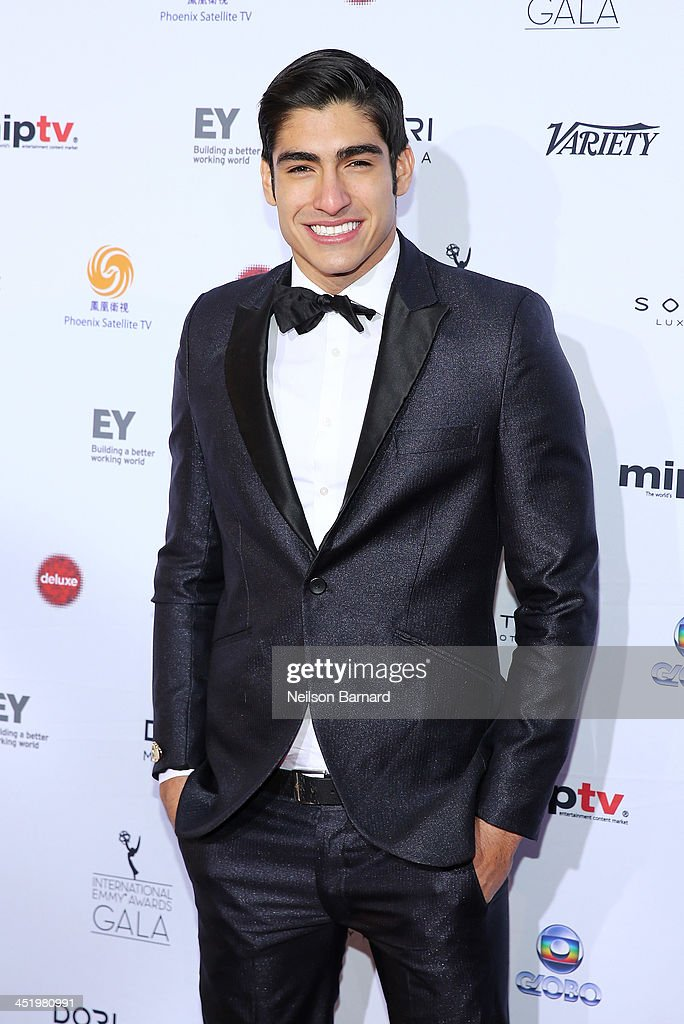 Model Francisco Escobar attends the 41st International Emmy Awards at the Hilton New York on November 25, 2013 in New York City.