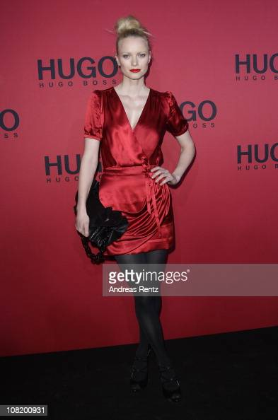 Model Franziska Knuppe attends the Hugo Boss Show during the Mercedes Benz Fashion Week Autumn/Winter 2011 at Neue Nationalgalerie on January 20 2011...