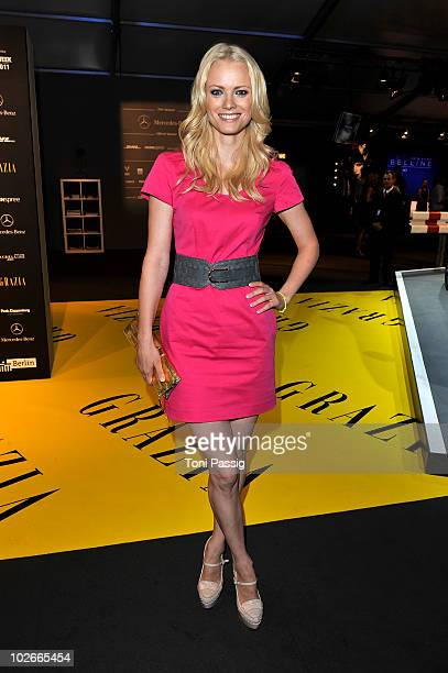 Model Franziska Knuppe attends the Opening Night by Grazia Mercedes Benz Fashion Week Spring/Summer 2011 at Bebelplatz on July 6 2010 in Berlin...