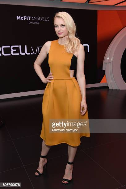 Model Franziska Knuppe is seen during the Marcell von Berlin 'Genesis' collection presentation on July 3 2017 in Berlin Germany