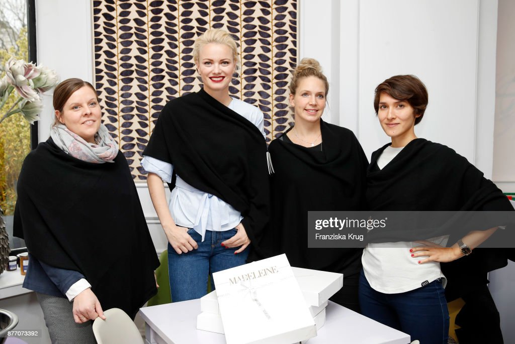 MADELEINE And Franziska Knuppe Hands Over Donation To Tribute To Bambi Foundation In Hamburg