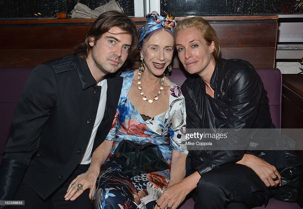 Model Frederique (3rd from L) attends the Sundance Institute Alumni Event At IFP week at the Empire Hotel on September 18, 2012 in New York City.