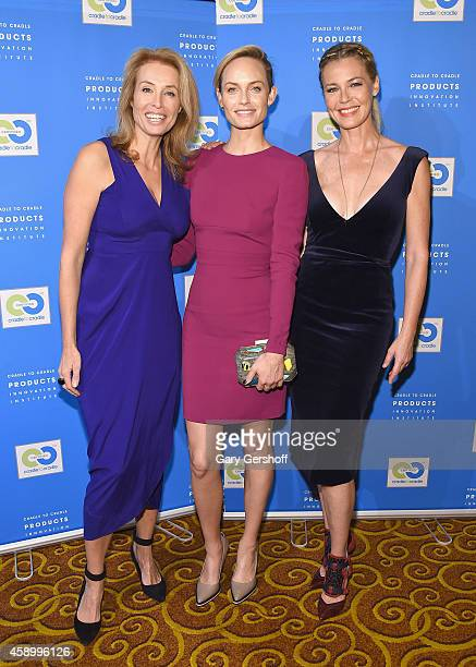 Model Frederique van der Wal and actresses Amber Valletta and Connie Nielsen attend the Fashion Positive Launch event at Gotham Hall on November 14...