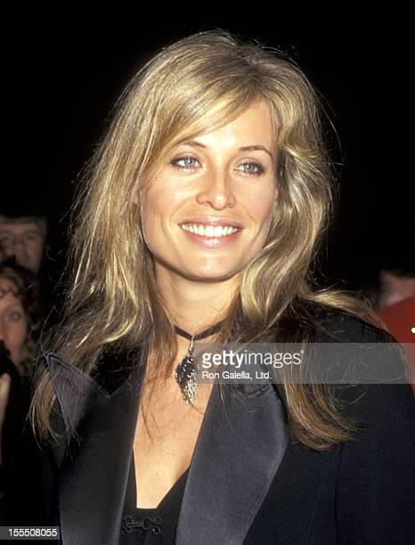 Model Frederique van der Wal attends the Launch of Cartier's Tank Francaise Watch on May 8 1996 at Former B Altman Department Store Building in New...