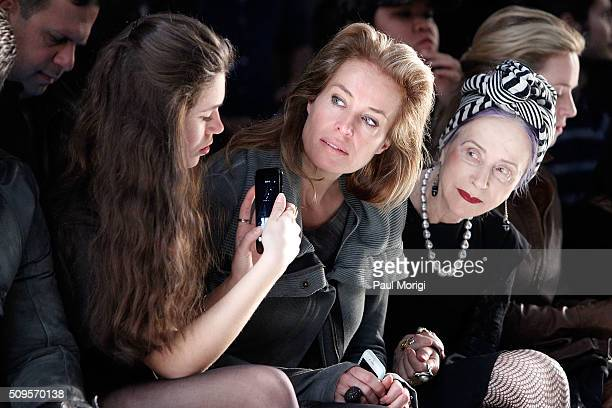 Model Frederique Van Der Wal attends the Nicholas K Fall 2016 Fashion Show during New York Fashion Week The Shows at The Dock Skylight at Moynihan...
