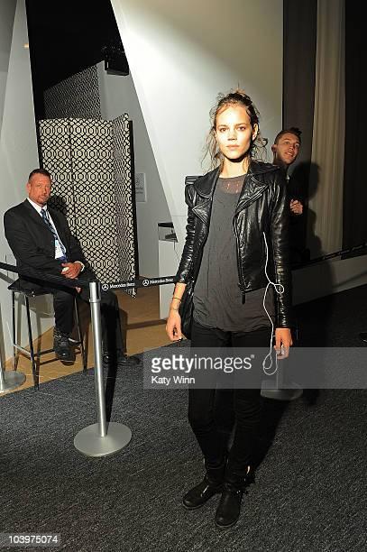 Model Freja Beha Erichsen is seen around Lincoln Center during MercedesBenz Fashion Week on September 10 2010 in New York City