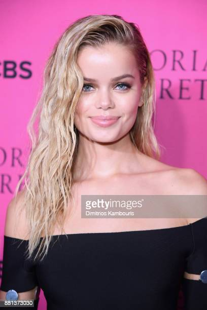 Model Frida Aasen attends as Victoria's Secret Angels gather for an intimate viewing party of the 2017 Victoria's Secret Fashion Show at Spring...