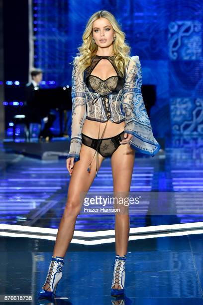 Model Frida Aasen walks the runway during the 2017 Victoria's Secret Fashion Show In Shanghai at MercedesBenz Arena on November 20 2017 in Shanghai...