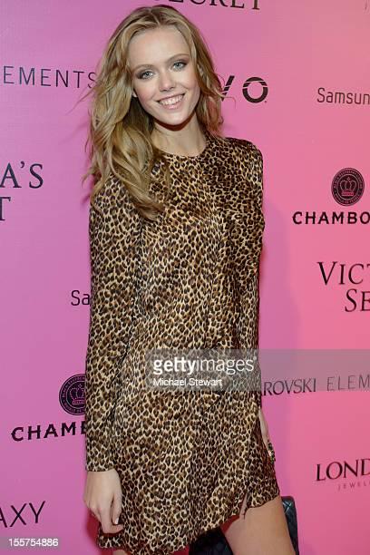 Model Frida Gustavsson attends the after party for the 2012 Victoria's Secret Fashion Show at Lavo NYC on November 7 2012 in New York City
