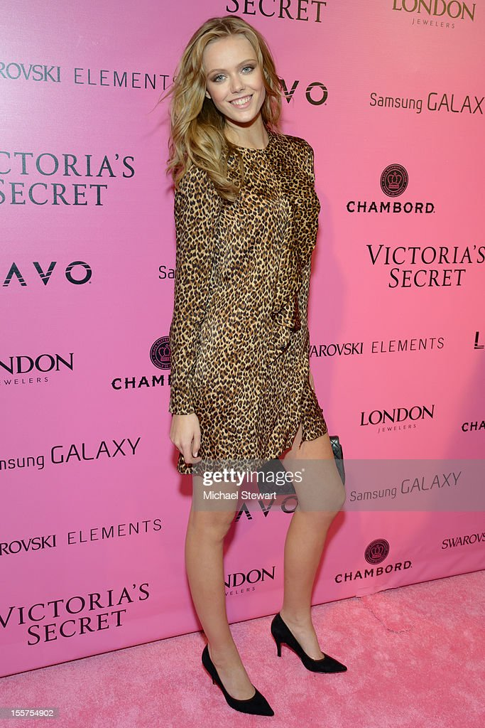 Model Frida Gustavsson attends the after party for the 2012 Victoria's Secret Fashion Show at Lavo NYC on November 7, 2012 in New York City.