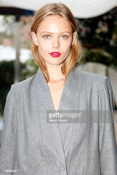 Model Frida Gustavsson attends the Rodebjer fashion show during MercedesBenz Fashion Week Spring 2014 at the Maritime Hotel on September 6 2013 in...