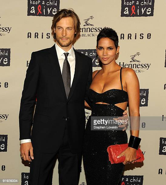 Model Gabriel Aubry and girlfriend actress Halle Berry attend Keep A Child Alive�s 6th Annual Black Ball at Hammerstein Ballroom on October 15 2009...