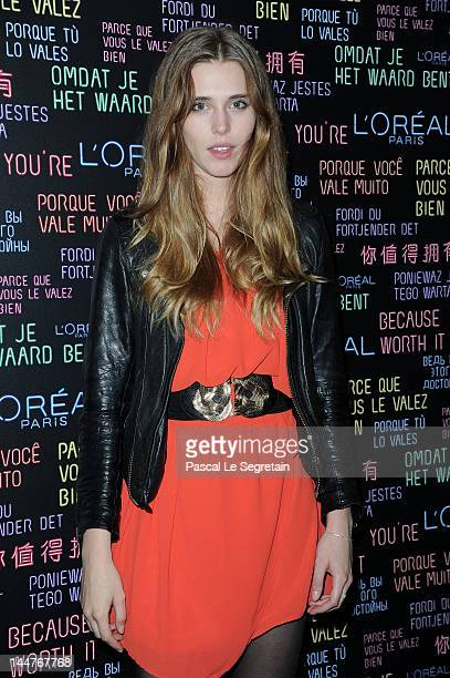 Model Gaia Weiss during the DJ Set With Josephine de la Baume at L'Oreal Suite on May 18 2012 in Cannes France