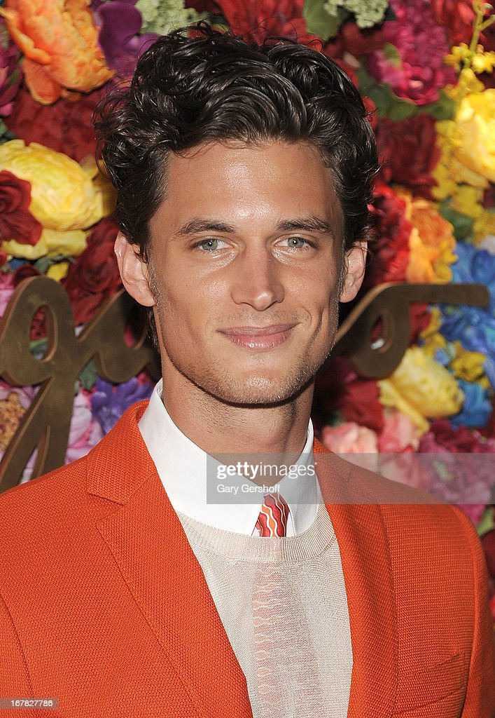 Model <a gi-track='captionPersonalityLinkClicked' href=/galleries/search?phrase=Garrett+Neff&family=editorial&specificpeople=4433201 ng-click='$event.stopPropagation()'>Garrett Neff</a> attends Ferragamo Celebrates The Launch Of L'Icona Highlighting The 35th Anniversary Of Vara at 530 West 27th Street on April 30, 2013 in New York City.