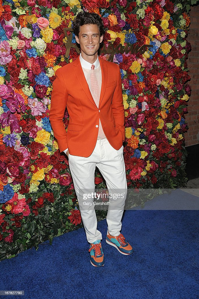 Model Garrett Neff attends Ferragamo Celebrates The Launch Of L'Icona Highlighting The 35th Anniversary Of Vara at 530 West 27th Street on April 30, 2013 in New York City.
