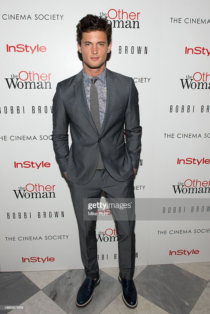 Model Garrett Neff attends The Cinema Society & Bobbi Brown with InStyle screening of 'The Other Woman' at The Paley Center for Media on April 24, 2014 in New York City.