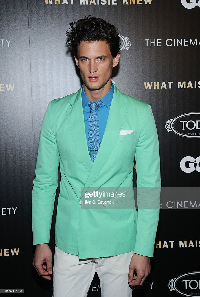 Model <a gi-track='captionPersonalityLinkClicked' href=/galleries/search?phrase=Garrett+Neff&family=editorial&specificpeople=4433201 ng-click='$event.stopPropagation()'>Garrett Neff</a> attends The Cinema Society with Tod's & GQ screening of Millennium Entertainment's 'What Maisie Knew' at Landmark Sunshine Cinema on May 2, 2013 in New York City.