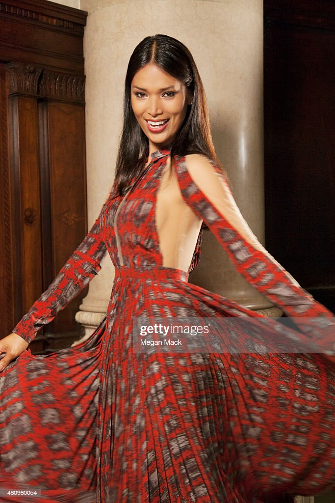 Model Geena Rocero poses for a portrait at the Logo TV's 'Trailblazers' at the Cathedral of St John the Divine on June 25 2015 in New York City