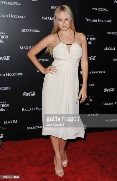 Model Genevieve Morton arrives at the MAXIM Hot 100 Celebration Event at Pacific Design Center on June 10 2014 in West Hollywood California