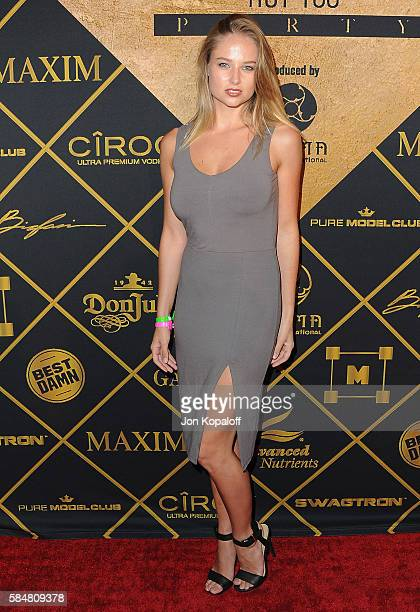 Model Genevieve Morton arrives at the Maxim Hot 100 Party at the Hollywood Palladium on July 30 2016 in Los Angeles California