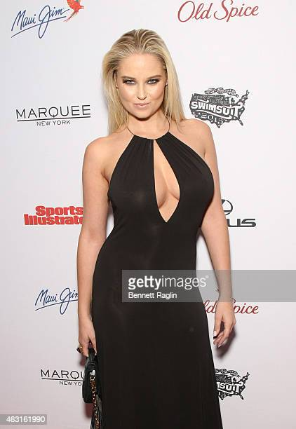 Model Genevieve Morton attends 2015 Sports Illustrated Swimsuit Celebration at Marquee on February 10 2015 in New York City