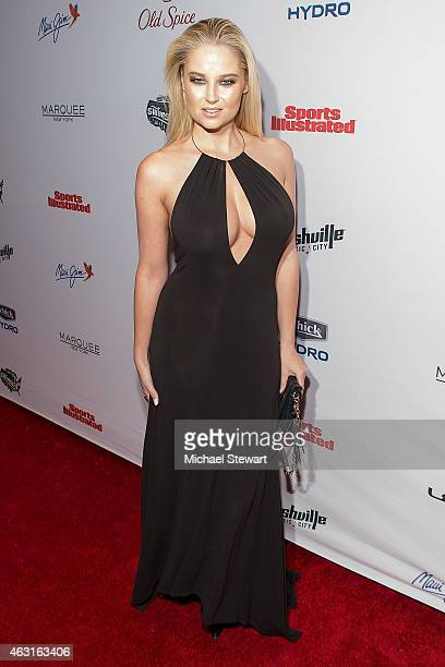 Model Genevieve Morton attends the 2015 Sports Illustrated Swimsuit Issue celebration at Marquee on February 10 2015 in New York City