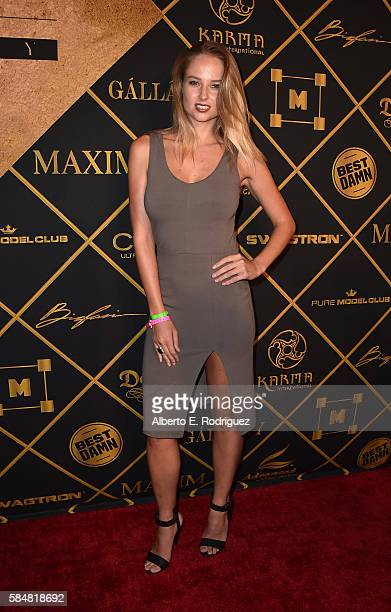 Model Genevieve Morton attends the Maxim Hot 100 Party at the Hollywood Palladium on July 30 2016 in Los Angeles California