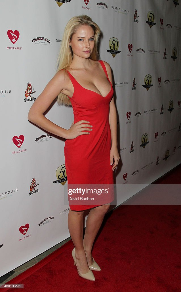 Model <a gi-track='captionPersonalityLinkClicked' href=/galleries/search?phrase=Genevieve+Morton&family=editorial&specificpeople=6583076 ng-click='$event.stopPropagation()'>Genevieve Morton</a> attends the Sunset Marquis Hotel 50th Anniversary Birthday Bash at Sunset Marquis Hotel & Villas on November 16, 2013 in West Hollywood, California.