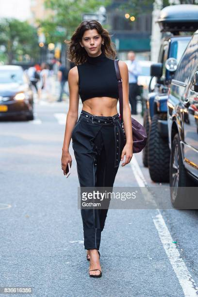 Model Georgia Fowler attends call backs for the 2017 Victoria's Secret Fashion Show on August 21 2017 in New York City