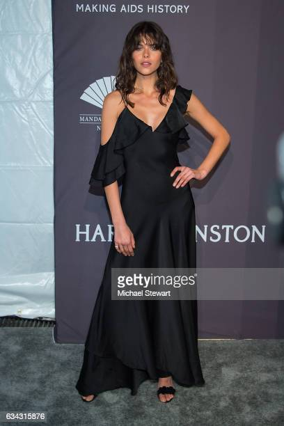Model Georgia Fowler attends the 19th Annual amfAR New York Gala at Cipriani Wall Street on February 8 2017 in New York City