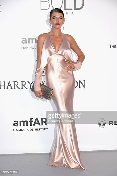 Model Georgia Fowler attends the amfAR's 23rd Cinema Against AIDS Gala at Hotel du CapEdenRoc on May 19 2016 in Cap d'Antibes France