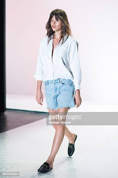 Model Georgia Fowler attends the Jonathan Simkhai fashion show during September 2016 MADE Fashion Week The Shows at The Arc Skylight at Moynihan...