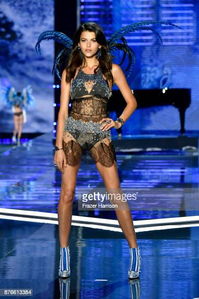 Model Georgia Fowler walks the runway during the 2017 Victoria's Secret Fashion Show In Shanghai at MercedesBenz Arena on November 20 2017 in...