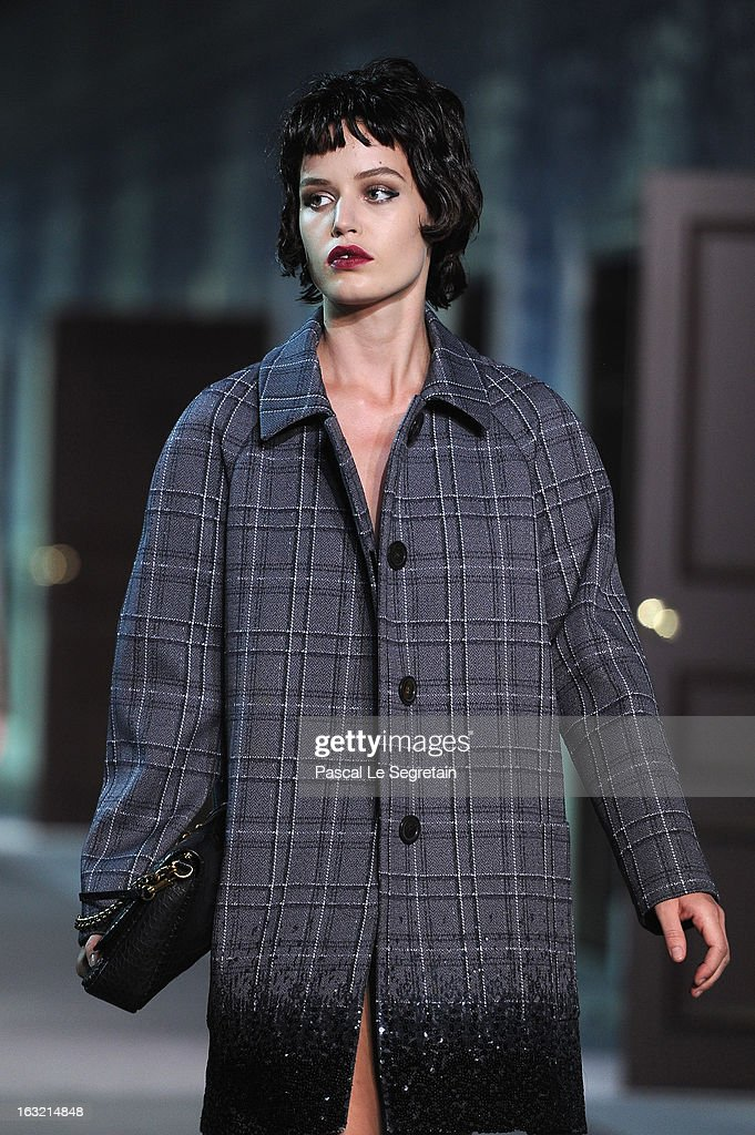 Model <a gi-track='captionPersonalityLinkClicked' href=/galleries/search?phrase=Georgia+Jagger&family=editorial&specificpeople=2079186 ng-click='$event.stopPropagation()'>Georgia Jagger</a> walks the runway during Louis Vuitton Fall/Winter 2013 Ready-to-Wear show as part of Paris Fashion Week on March 6, 2013 in Paris, France.