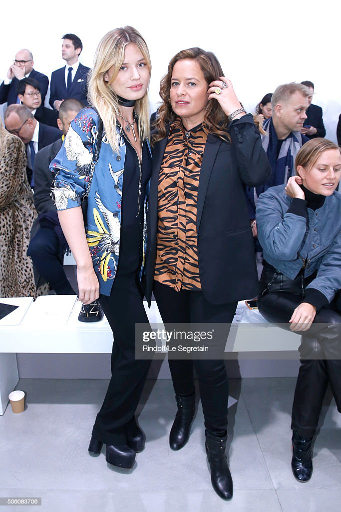 Model Georgia May Jagger and her sister Jade Jagger attend the Louis Vuitton Menswear Fall/Winter 20162017 Fashion Show as part of Paris Fashion Week...