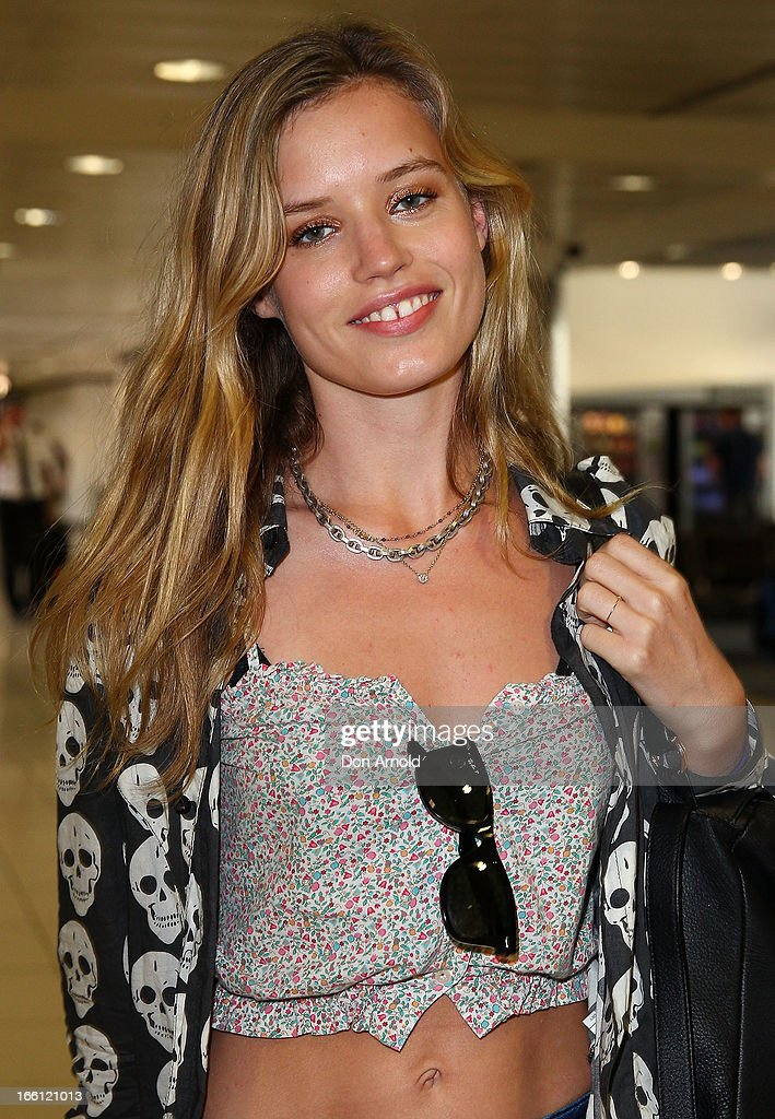 Model Georgia May Jagger arrives at Sydney International Airport on April 9, 2013 in Sydney, Australia. Jagger will walk the Camilla runway at Mercedes-Benz Fashion Week Australia.