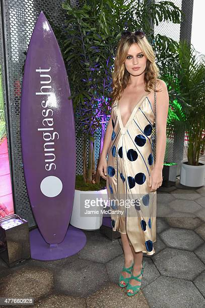 Model Georgia May Jagger attends the Sunglass Hut celebration 'Electrify Your Summer' with Georgia May Jagger Chanel Iman Nick Fouquet on June 18...