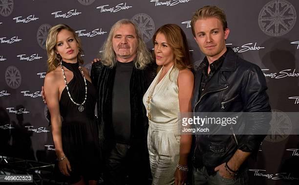 Model Georgia May Jagger Thomas Sabo and his wife Luz Enith Sabo and Racingcar driver Nico Rosberg attend the Thomas Sabo Karma Night at Postpalast...