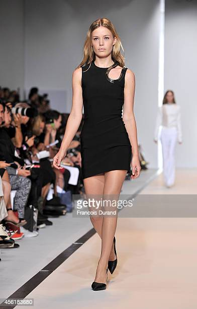 Model Georgia May Jagger walks the runway during the Mugler show as part of the Paris Fashion Week Womenswear Spring/Summer 2015 on September 27 2014...