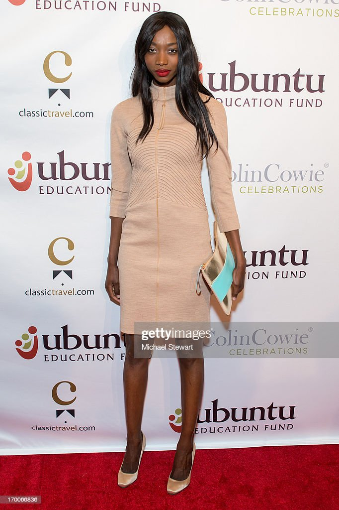 Model Georgie Badiel attends Annual Ubuntu Education Fund NY Gala at Gotham Hall on June 6, 2013 in New York City.