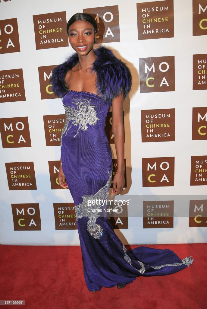 Model Georgie Badiel attends the Museum of Chinese in America's Annual Legacy awards dinner at Cipriani Wall Street on December 3, 2012 in New York City.
