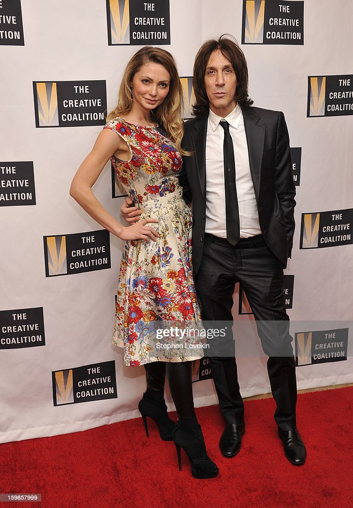 Model Gia Skova and hairstylist Warren Tricomi attend The Creative Coalition's 2013 Inaugural Ball at the Harman Center for the Arts on January 21, 2013 in Washington, United States.