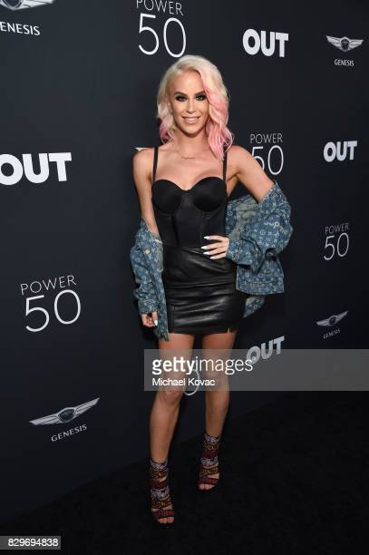 Model Gigi Gorgeous attends OUT Magazine's OUT POWER 50 gala and award presentation presented by Genesis on August 10 2017 in Los Angeles California
